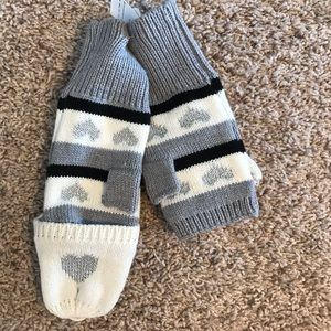 NWT Girls Old Navy L/XL convertible mittens